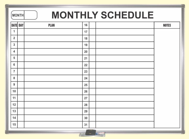 lịch công tác tháng