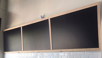 bảng phấn khung gỗ tự nhiên mã DTN80360M