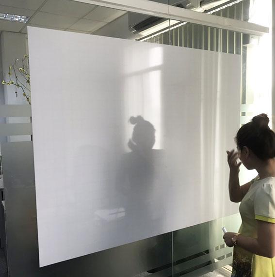 Bảng trắng từ không khung dán trên tường