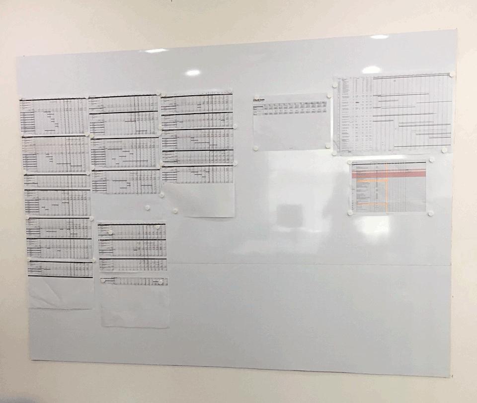 bảng trắng từ không khung