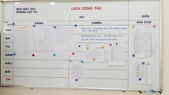bảng trắng từ mã BCDT