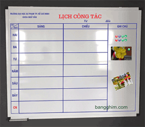 Bảng fooc mica in lịch công tác 3 in 1