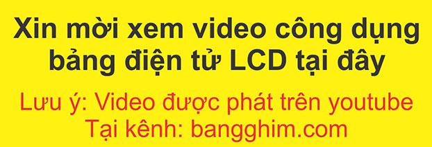 Giới thiệu video Bảng đen điện tử LCD mã LCDQM26