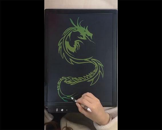 Vẽ rồng bằng Bảng đen điện tử LCDQM